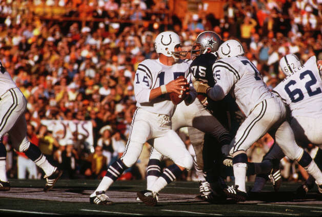 Super Bowl V — Jan. 17, 1971 | Miami | (Baltimore) Colts 16, Cowboys 13Performers: Florida A&M University marching band.The Southern University and Northeast Missouri College marching bands performed before the game, and trumpeter Tommy Loy led the national anthem. The halftime show had no theme that year. Photo: Focus On Sport, Focus On Sport/Getty Images / 1971 Focus on Sport
