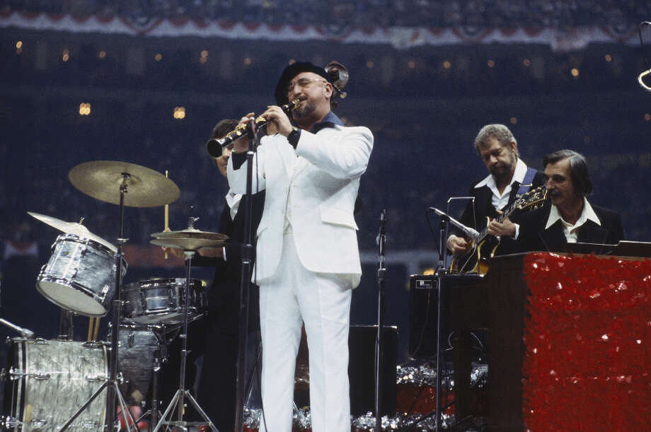 Super Bowl XII— Jan. 15, 1978 | New Orleans | Cowboys 27, Broncos 10Performers: Pete Fountain (pictured), Al Hirt, Tyler Apache Belles.The Super Bowl returned to New Orleans in the brand new Superdome, and the halftime show's theme was ''From Paris to Paris of America.'' New Orleans has been known as the Paris of America. Photo: Focus On Sport, Focus On Sport/Getty Images / 1978 Focus on Sport