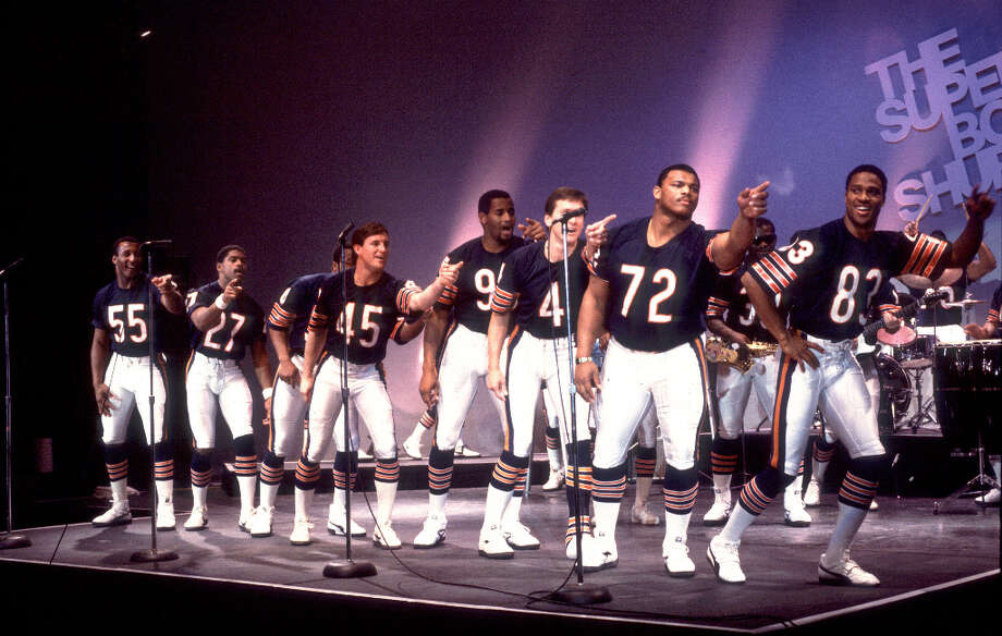 Super Bowl XX— Jan. 26, 1986 | New Orleans | Bears 46, Patriots 10Performers: Up With People.Up With People returned, once again, to the Super Bowl in 1986. But the most memorable musical number from that NFL season was the ''Super Bowl Shuffle,'' performed by members of the Chicago Bears (pictured).You can watch the entire halftime show on YouTube. Photo: Paul Natkin, NFL / Getty Images North America