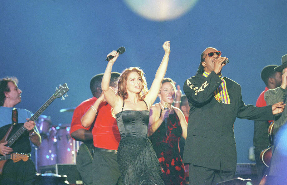Super Bowl XXXIII — Jan. 31, 1999 | Miami | Broncos 34, Falcons 19Performers: Stevie Wonder, Gloria Estefan, Big Bad Voodoo Daddy, Stavion Glover.Stevie Wonder was driven to the stage in a classic car and there were dancers up in the stadium's light fixtures, where pyrotechnics were also set off.You can watch the entire halftime show on YouTube. Photo: Joe Traver, Getty Images / Getty Images North America
