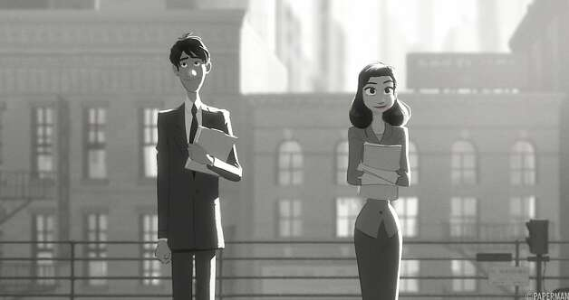 "See what George does to woo Meg in ""Paperman."" Photo: Kho, The Short Movie Channel"