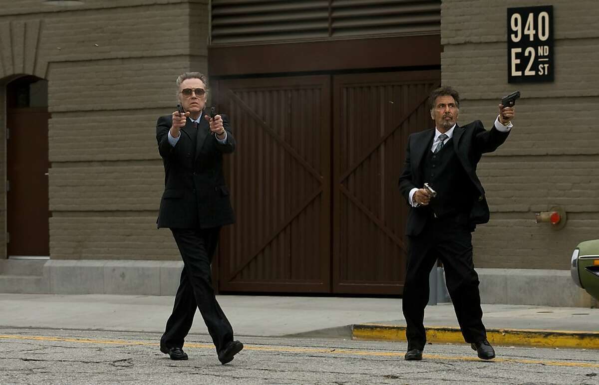 Christopher Walken (left, as Doc) and Al Pacino (right, as Val) star in STAND UP GUYS.