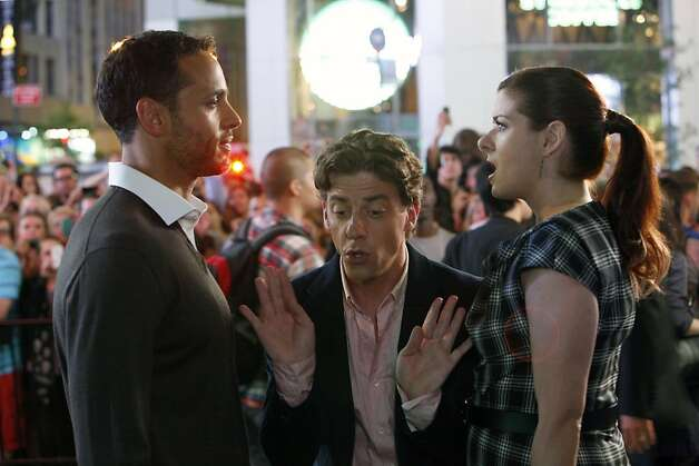 "SMASH -- ""The Dramaturg"" Episode 203 -- Pictured: (l-r) Daniel Sunjata as Peter Gilman, Christian Borle as Tom Levitt, Debra Messing as Julia Houston Photo: Will Hart, NBC"