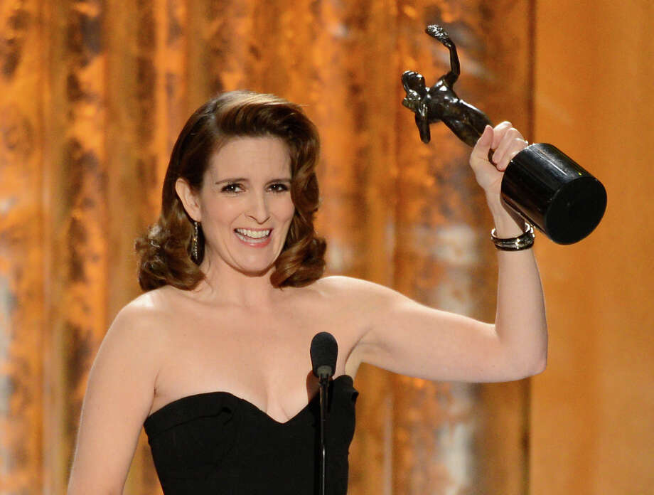 Tina Fey on Jan. 27, 2013, with  her Screen Actors Guild award. Photo: Mark Davis, Getty Images / 2013 Getty Images