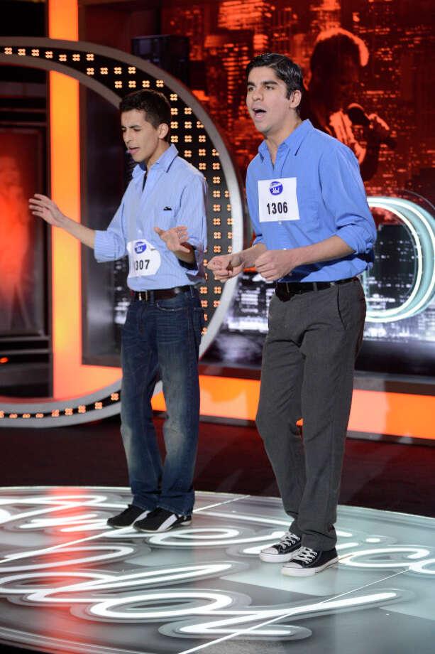 AMERICAN IDOL: San Antonio Auditions: Contestants Derek and David Baceroti on AMERICAN IDOL airing Wednesday, Jan. 30 (8:00-10:00 PM ET/PT) on FOX. ©2013 Fox Broadcasting Co. CR: Michael Becker / FOX