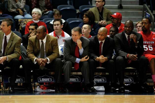 The University of Houston coach James Dickey looks on late in the second half. Photo: Johnny Hanson, Houston Chronicle / © 2013  Houston Chronicle