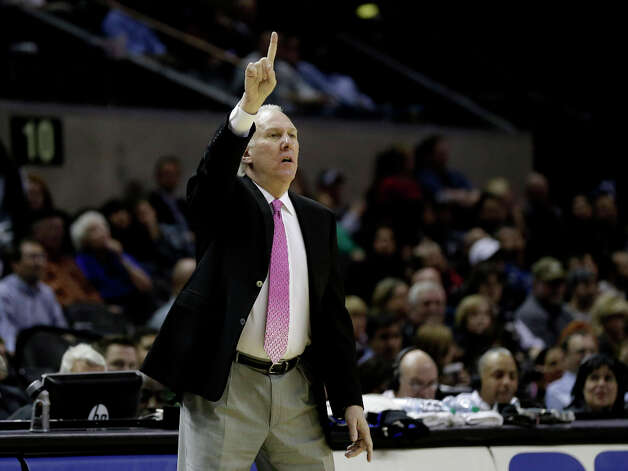 San Antonio Spurs head coach Gregg Popovich during the second half of an NBA basketball game against the Charlotte Bobcats, Wednesday, Jan. 30, 2013, in San Antonio. (AP Photo/Eric Gay) Photo: Eric Gay, Associated Press / AP