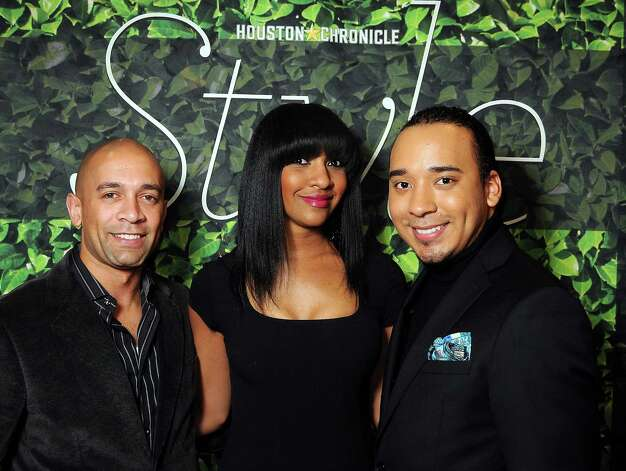 From left: Reggie Barnes, Cicely Reid and Brandon McClendon at the Houston Chronicle's Best Dressed Announcement Party at Neiman Marcus Wednesday Jan. 30, 2013.(Dave Rossman/ For the Chronicle) Photo: Dave Rossman, For The Houston Chronicle / © 2013 Dave Rossman