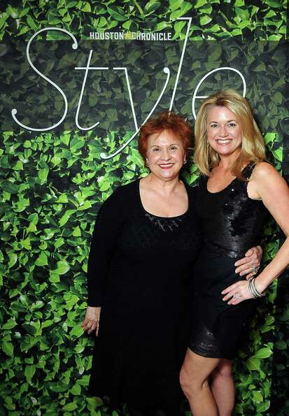 Yolanda Perez and Millette Sherman at the Houston Chronicle's Best Dressed Announcement Party at Nei