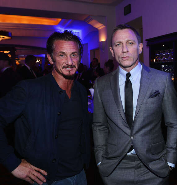 Craig with Sean Penn on Jan 12, 2013.