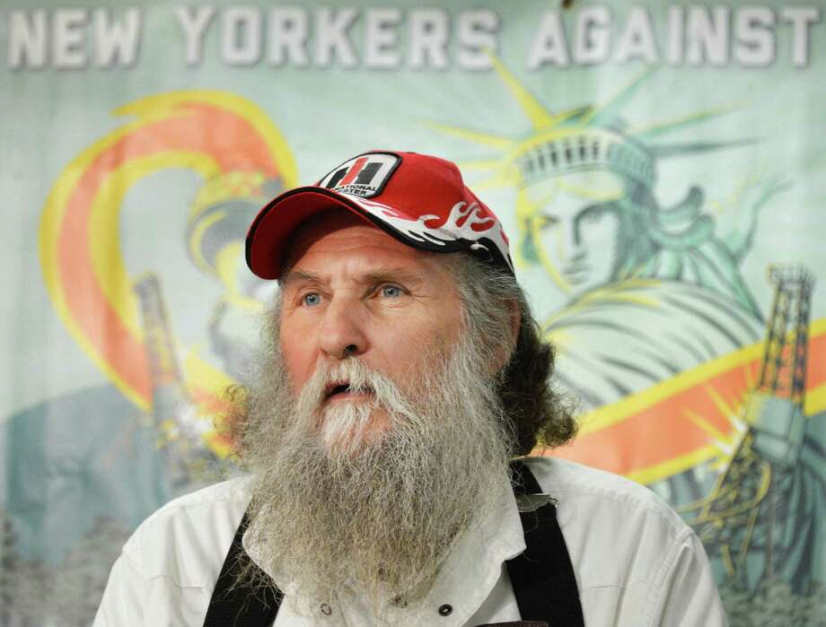 Pennsylvania farmer Terry Greenwood raises health concerns about hydro fracking during a news conference Wednesday morning, Jan. 30, 2013, at the Legislative Office Building. (John Carl D'Annibale / Times Union) Photo: John Carl D'Annibale / 00020969A