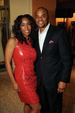 Honoree Tiffany Avery Smith and her husband Rick at the Houston Chronicle's Best Dressed Announcement Party at Neiman Marcus Wednesday Jan. 30, 2013.(Dave Rossman/ For the Chronicle) Photo: Dave Rossman, For The Houston Chronicle / © 2013 Dave Rossman