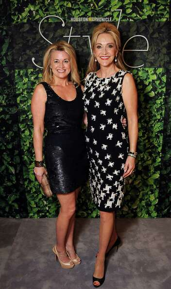 Millette Sherman and Jana Arnoldy at the Houston Chronicle's Best Dressed Announcement Party at Neim
