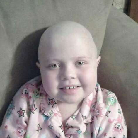 Mackenzie Patterson at Texas Children's Hospital in Houston will receive a bone marrow transplant Friday. Photo: Facebook
