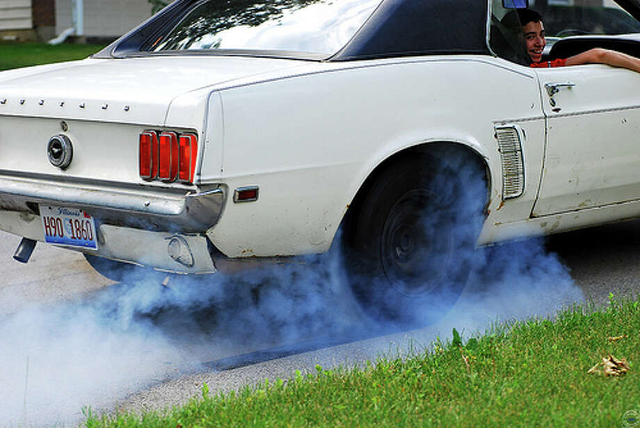 Burn outs are illegal: Burning rubber is illegal in Derby, Kansas. It'll could cost you 30 days in jail for the misdemeanor charge. (photo: Chad Horwedel, Flickr)