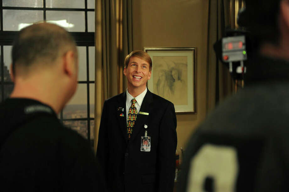 30 ROCK -- Part 1: Hogcock! Part 2: Last Lunch Episode 712/713 -- Pictured: Jack McBrayer as Kenneth Parcell -- Photo: NBC, Ali Goldstein/NBC / 2012 NBCUnivesal Media, LLC.