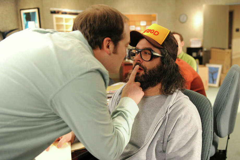 30 ROCK -- Part 1: Hogcock! Part 2: Last Lunch Episode 712/713 -- Pictured: (l-r) John Lutz as Lutz, Judah Friedlander as Frank -- Photo: NBC, Ali Goldstein/NBC / 2012 NBCUnivesal Media, LLC.