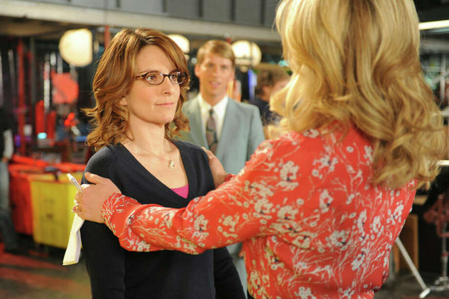 30 ROCK -- Part 1: Hogcock! Part 2: Last Lunch Episode 712/713 -- Pictured: (l-r) Tina Fey as Liz Lemon, Jane Krakowski as Jenna Maroney -- Photo: NBC, Ali Goldstein/NBC / 2012 NBCUnivesal Media, LLC.
