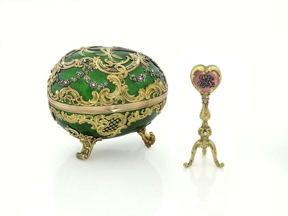 Fabergé pieces from the McFerrin Collection, on display at the Houston Museum of Natural Science. Photo: HMNS