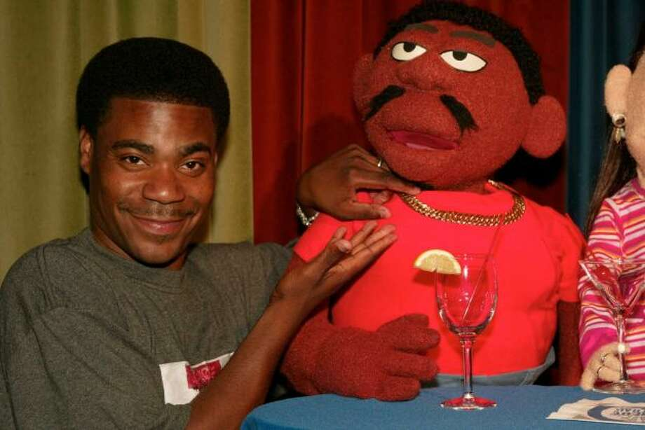 Before he played the unhinged Tracy Jordan on ''30 Rock,'' Morgan was the puppet Spoonie Luv on the 2002 Comedy Central show ''Crank Yankers.''