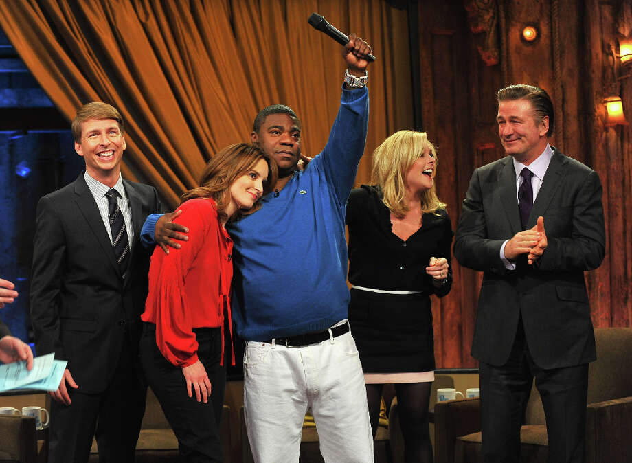 The ''30 Rock'' cast on ''Late Night With Jimmy Fallon'' on Jan. 10, 2013. Photo: Theo Wargo, Getty Images / 2013 Getty Images