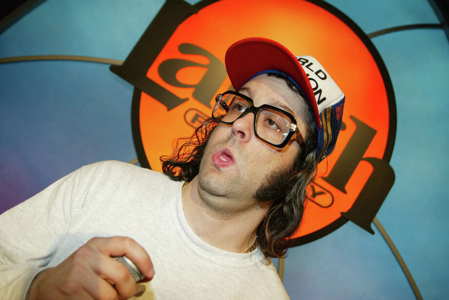 This is how you probably recognize Judah Friedlander, who's been looking this way from at least 2003 (when this picture was taken). Photo: Frazer Harrison, Getty Images / 2003 Getty Images