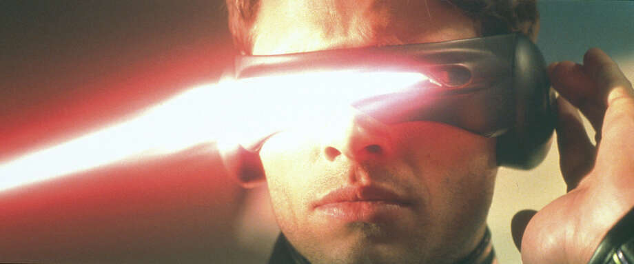 James Marsden also starred as Cyclops in the 2000 movie ''X-Men.'' He's seen emitting an ''optic blast'' from his visor.  Photo: Getty Images / Getty Images North America