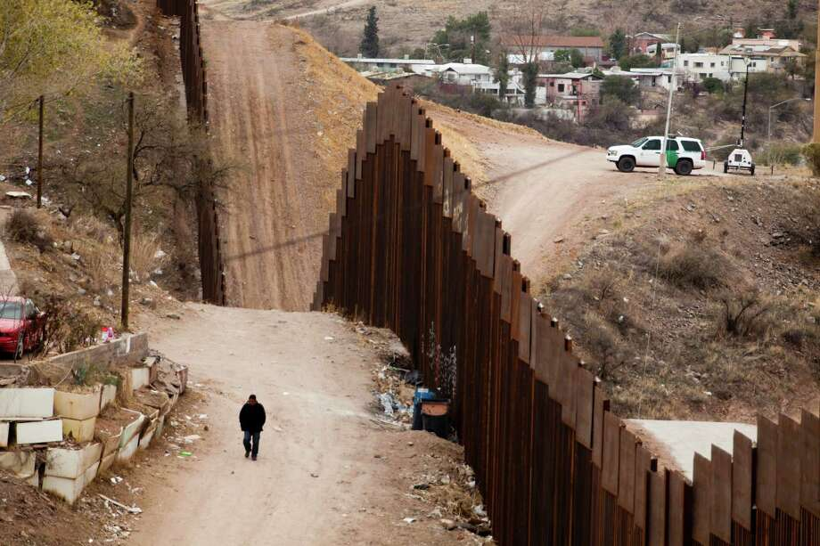 A U.S. Border Patrol vehicle patrols the American side of the Mexican border, at the border in Nogales, Mexico, Feb. 8, 2012. By some key measures, the underlying problems with illegal immigration, like the economic and demographic pressures that have drawn Mexicans northward for decades in search of jobs  in the U.S., have diminished over the last six years. (Piotr Redlinski/The New York Times Photo: PIOTR REDLINSKI, New York Times / NYTNS