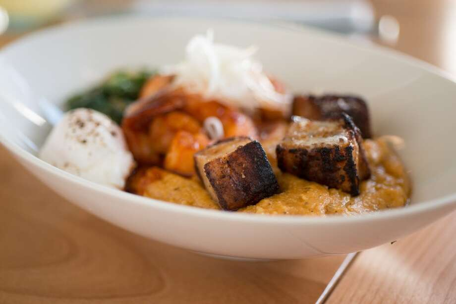Shrimp & Grits, $13/$19.