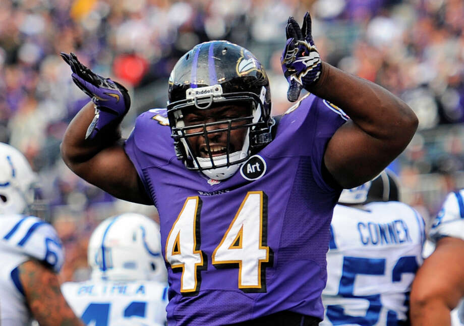 Baltimore Ravens fullback Vonta LeachLeach played five seasons with the Texans (2006-2010). Photo: Nick Wass, Associated Press / FR67404 AP