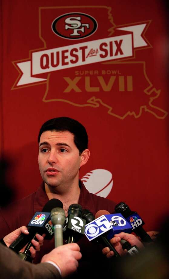 The San Francisco 49ers' CEO and owner Jed York speaks with the media during the daily press conference on Thursday Jan. 31, 2013, in New Orleans, La. The San Francisco 49ers and the Baltimore Ravens prepare for this Sunday's NFL Superbowl match up. Photo: Michael Macor, The Chronicle / ONLINE_YES