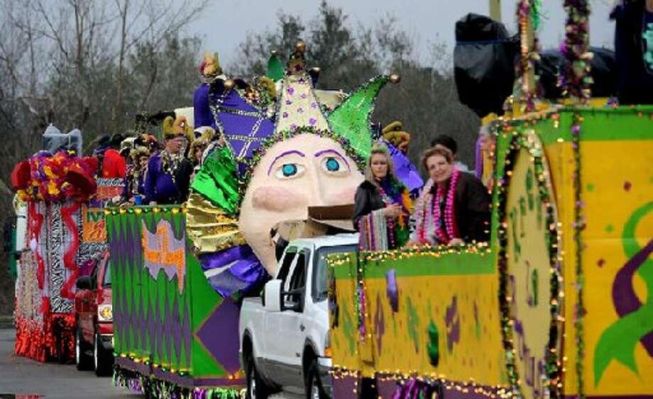 Mardi Gras parade in Orange. cat5 file photo