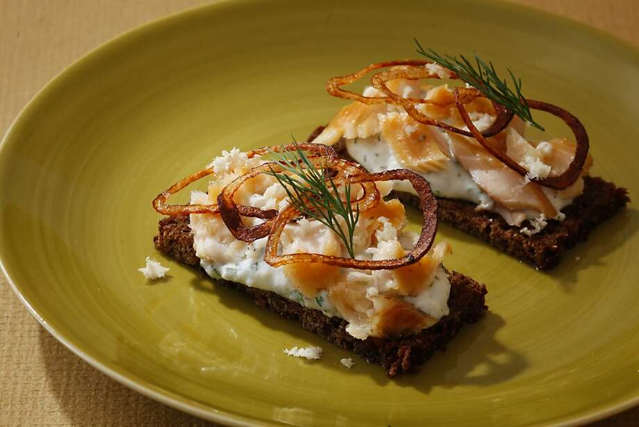 Smoked Trout Open-Face Sandwiches With Potato & Dill Sauce Photo: Craig Lee, Special To The Chronicle