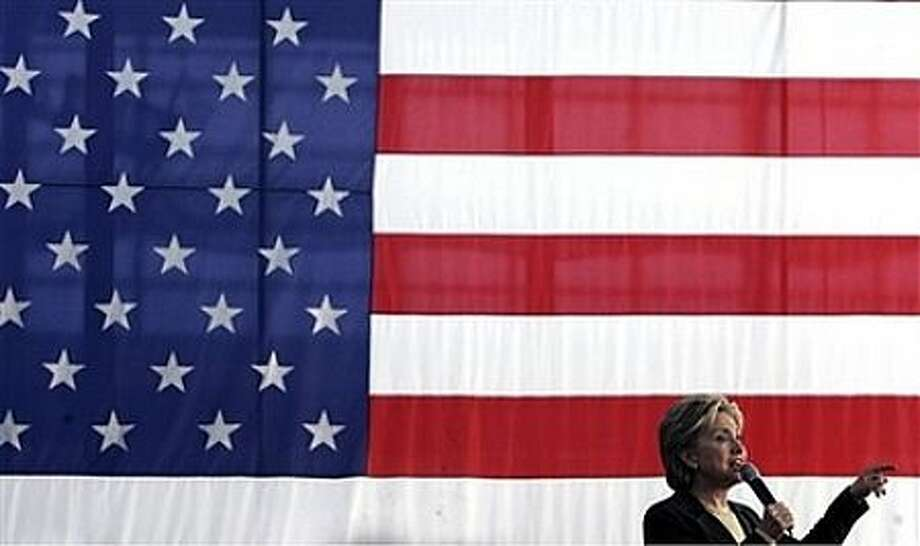Democratic presidential hopeful, Sen. Hillary Rodham Clinton, D-N.Y., speaks during a campaign stop in Cedar Rapids, Iowa, Wednesday, Jan. 2, 2008 on the last day of presidential candidates' campaigning before the Iowa caucus. Photo: LM Otero, AP / AP