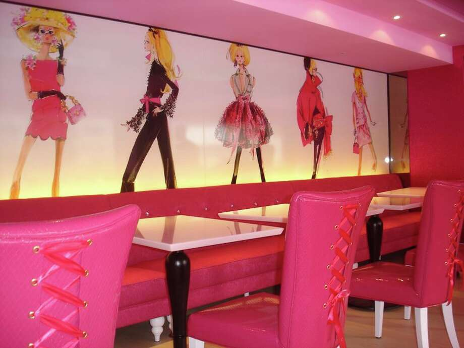 With hot pink sofas, high heels-shaped tables and chairs decorated with tutus, the first Barbie-themed restaurant opened in Taiwan on January 30 catering to fans of the iconic doll.