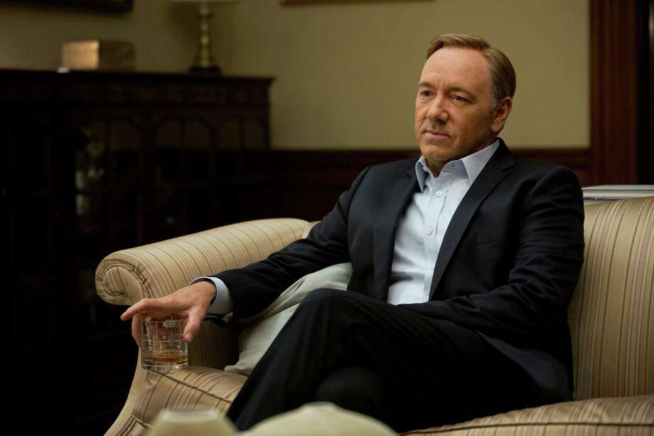 "This image released by Netflix shows Kevin Spacey in a scene from the Netflix original series, ""House of Cards,"" an adaptation of a British classic. (AP Photo/Netflix, Melinda Sue Gordon) Photo: Melinda Sue Gordon / Netflix"