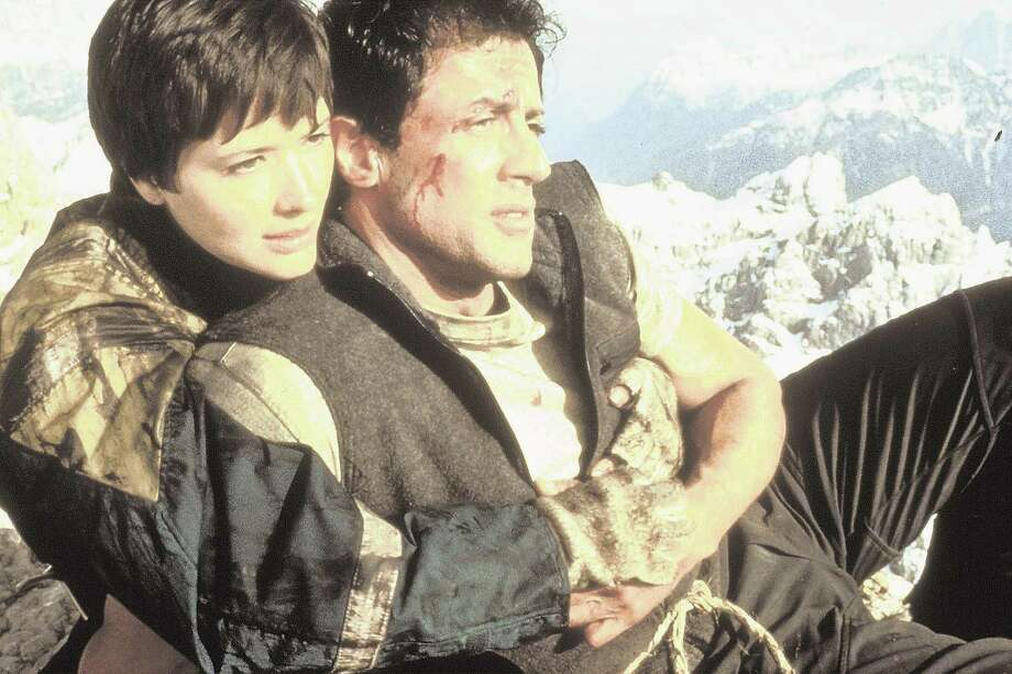Sylvester Stallone and Janine Turner play mountain-rescue workers pitted against a stranded group of thieves in the adventure movie ''Cliffhanger,'' Friday, April 13 (8-10 p.m. ET) on TNT.