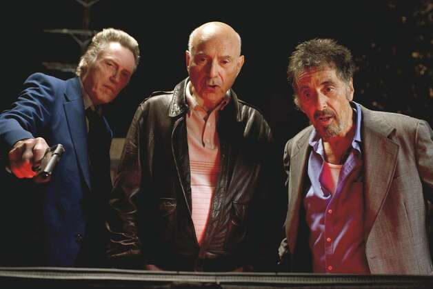 Christopher Walken (left, as Doc), Alan Arkin (center, as Hirsch) and Al Pacino (right, as Val) star in STAND UP GUYS. Photo Credit: Saeed Adyani/Roadside Attractions