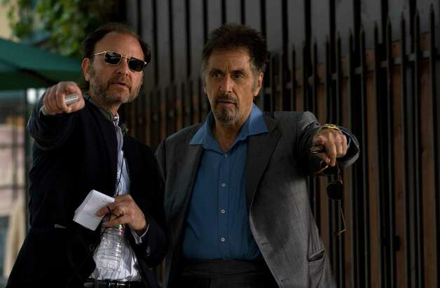 Photo Credit: Saeed Adyani/Roadside Attractions Director Fisher Stevens (left) and Al Pacino (right) on the set of STAND UP GUYS.