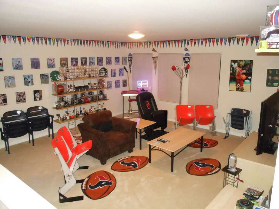 These decked-out man caves are suitable for any football fan.  Photo: Courtesy Of Monico Herrera