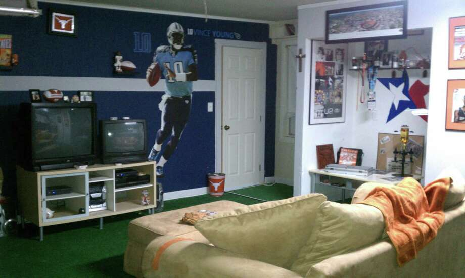 These decked-out man caves are suitable for any football fan.  Photo: Courtesy Of Steven Ramirez