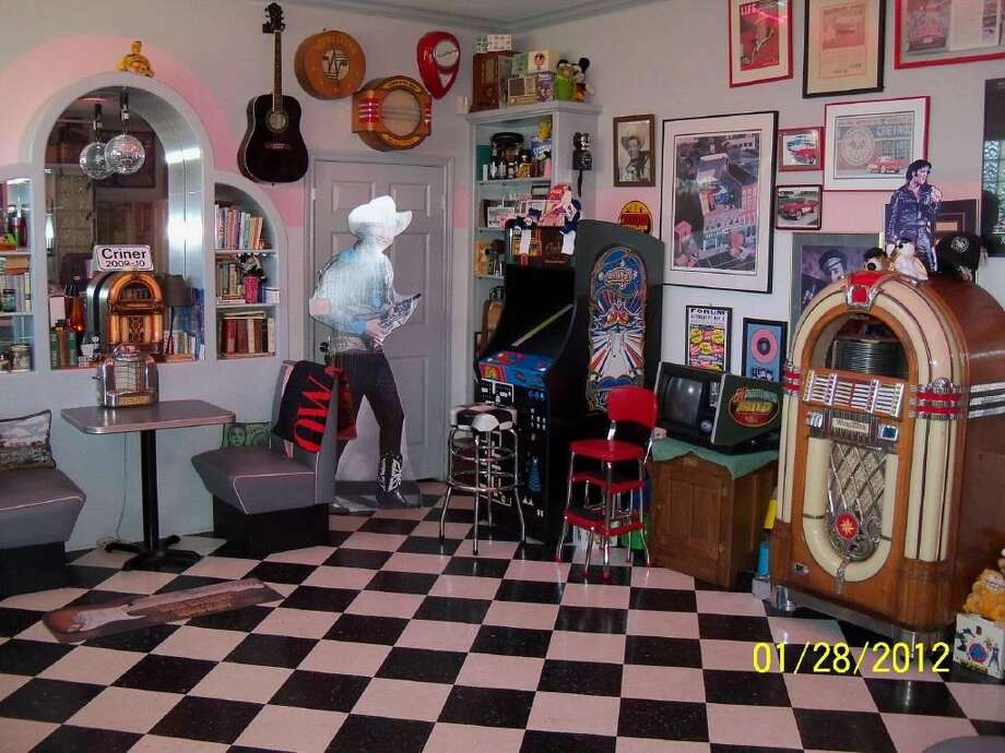 These decked-out man caves are suitable for any football fan.