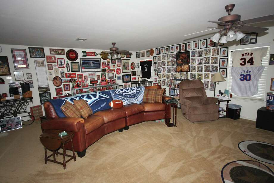 These decked-out man caves are suitable for any football fan. Photo: Courtesy Of Patrick Ryan