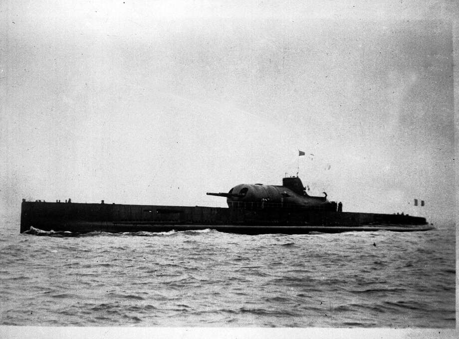 The French submarine Surcouf was the world's largest submarine when it was launched in 1929. Photo: Popperfoto, Popperfoto/Getty Images / Popperfoto