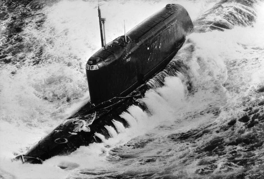 The Russian Hotel-class nuclear submarine K-19 was crippled by a fire 800 miles off Newfoundland and had to be towed home in 1972. Photo: Keystone, Getty Images / 2006 Getty Images