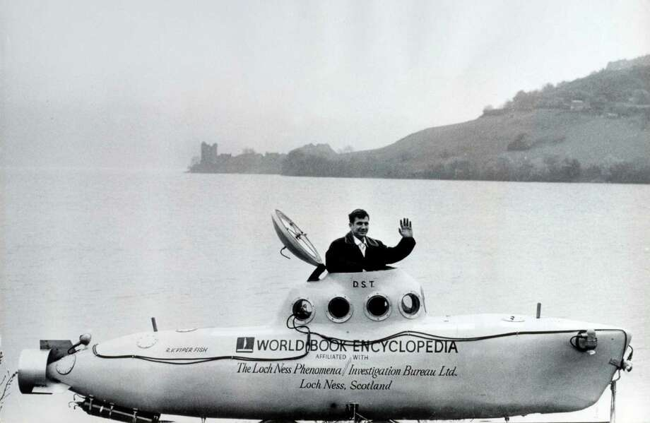 American submarine expert Dan Taylor used his 20-foot submarine at Loch Ness, Scotland, to search for the Loch Ness Monster in 1969. Photo: Popperfoto, Popperfoto/Getty Images / Popperfoto