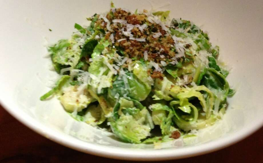 Brussels sprouts Caesar at Campo Pizzeria in Palo Alto