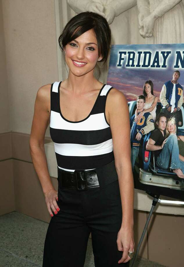 """You feel closer to God when you're with me? Did you think that line was gonna work?"" Minka Kelly played cheerleader Lyla Garrity in the television show 'Friday Night Lights.' Here she is at a photo call in 2007 in North Hollywood. Photo: Chad Buchanan, Getty / 2007 Chad Buchanan"