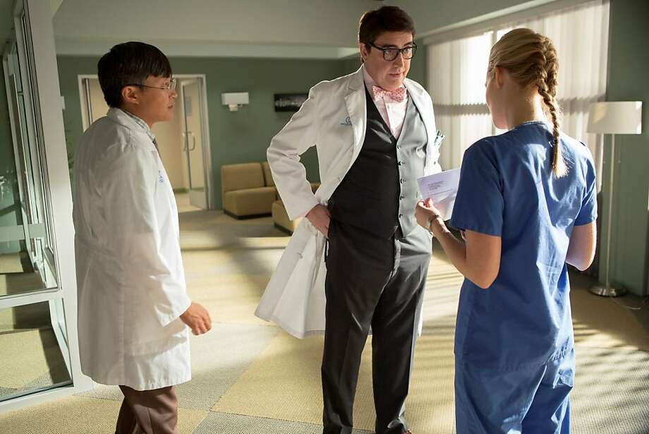 "Keong Sim (left), Alfred Molina and Jennifer Finnigan in the fine series ""Monday Morning."" Photo: Doug Hyun, Turner Entertainment"