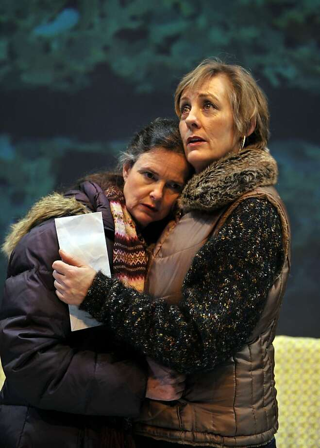 Sasha (Anne Darragh, left) and Willa (Julia Brothers) discuss cancer. Photo: David Allen